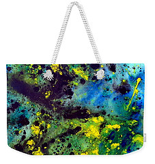 Blue Green Chaos Weekender Tote Bag