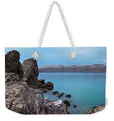 Blue, Green, Gray Weekender Tote Bag