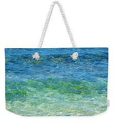 Blue Green Waves Weekender Tote Bag