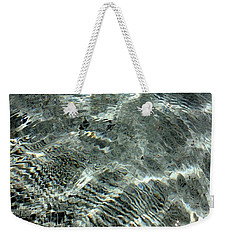 Weekender Tote Bag featuring the digital art Blue Grey Swirls by Ellen Barron O'Reilly