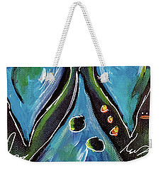 Blue Hearts Weekender Tote Bag