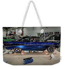 Weekender Tote Bag featuring the photograph Blue Heaven by Randy Scherkenbach