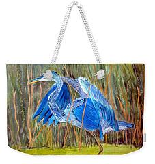 Blue Heron In Viera  Florida Weekender Tote Bag