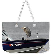 Blue Heron Boat Ride Weekender Tote Bag