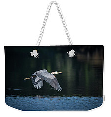 Blue Heron Flying Weekender Tote Bag