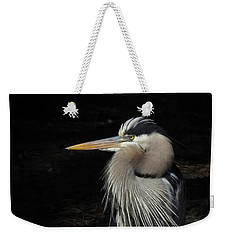 Blue Heron Gaze Weekender Tote Bag by Deborah Smith