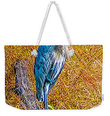 Weekender Tote Bag featuring the photograph Blue Heron In Maryland by Nick Zelinsky