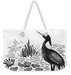 Crowned Night Heron Lily Pond Paradise In Ink D1 Weekender Tote Bag