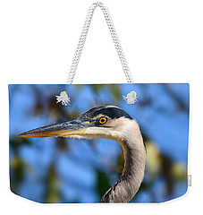 Blue Heron Profile Weekender Tote Bag by Kathy Eickenberg