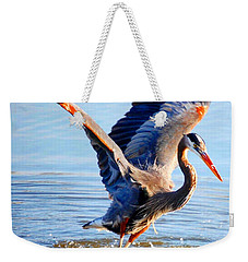 Weekender Tote Bag featuring the photograph Blue Heron by Sumoflam Photography