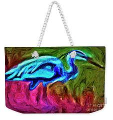 Weekender Tote Bag featuring the photograph Blue Heron by Walt Foegelle