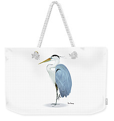 Blue Heron With No Background Weekender Tote Bag