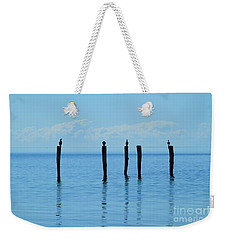 Weekender Tote Bag featuring the photograph Blue Horizon by Stephen Mitchell