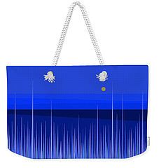 Weekender Tote Bag featuring the digital art Blue Horizon by Val Arie