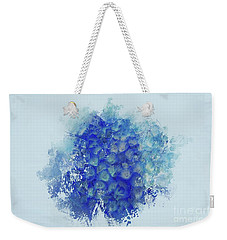 Blue Hortensia Weekender Tote Bag by Eva Lechner