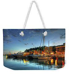 Blue Hour At Port Nice 2.0 Weekender Tote Bag by Yhun Suarez