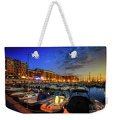 Blue Hour At Port Nice 1.0 Weekender Tote Bag by Yhun Suarez