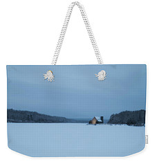 Blue Hour At The Old Stone Church Weekender Tote Bag