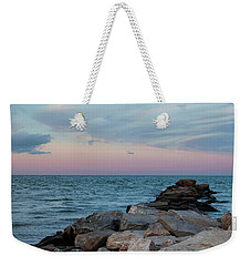 Blue Hour Martha's Vineyard Square Weekender Tote Bag by Marianne Campolongo