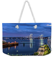 Blue Hour Over The Hudson Weekender Tote Bag