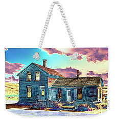 Weekender Tote Bag featuring the photograph Blue House by Jim and Emily Bush
