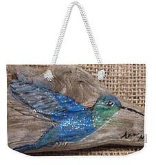 Blue Hummingbird Weekender Tote Bag