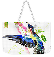 Blue Hummingbird Weekender Tote Bag by Suren Nersisyan