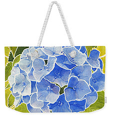 Blue Hydrangea Stained Glass Look Weekender Tote Bag