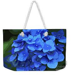 Blue Hydrangea Stylized Weekender Tote Bag