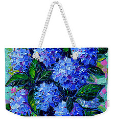 Blue Hydrangeas - Abstract Floral Composition Weekender Tote Bag
