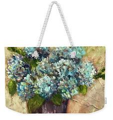 Blue Hydrangeas Weekender Tote Bag