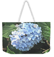 Blue Hydrangnea Weekender Tote Bag by Nance Larson