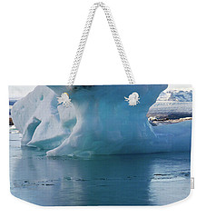 Blue Ice And Reflection Weekender Tote Bag