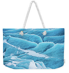 Weekender Tote Bag featuring the photograph Blue Ice Svinafellsjokull Glacier Iceland by Matthias Hauser