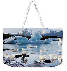 Blue Iceberg And Ice Crystals Weekender Tote Bag
