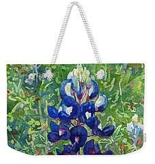 Blue In Bloom 2 Weekender Tote Bag by Hailey E Herrera