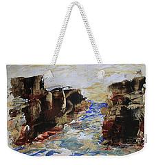 Blue Inlet Abstract Weekender Tote Bag