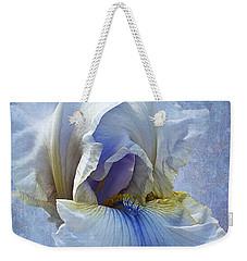 Blue Iris Fog Weekender Tote Bag by Phyllis Denton