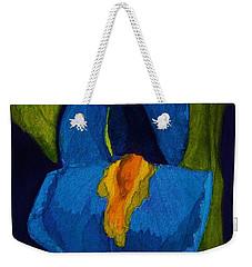 Blue Iris Weekender Tote Bag by Rand Swift