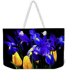 Blue Iris Waltz By Karen Wiles Weekender Tote Bag by Karen Wiles