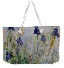 Blue Irises In The Field, Painted In The Open Air  Weekender Tote Bag