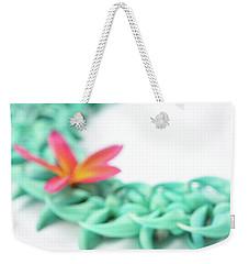 Blue Jade Lei Weekender Tote Bag