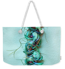 Blue Jade Lei With Hinahina Weekender Tote Bag