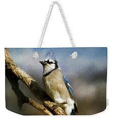 Blue Jay Weekender Tote Bag by Lana Trussell