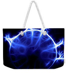 Blue Jelly Fish Weekender Tote Bag by Joann Copeland-Paul