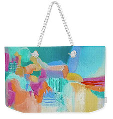 Blue Lagoon Weekender Tote Bag by Irene Hurdle