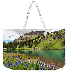 Weekender Tote Bag featuring the photograph Blue Lakes Summer Splendor by Cascade Colors