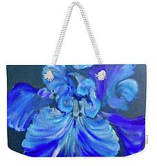 Blue/lavender Iris Weekender Tote Bag