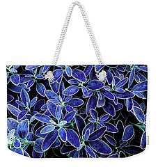 Blue Leaves Weekender Tote Bag