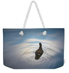Blue Light Moorhen Weekender Tote Bag